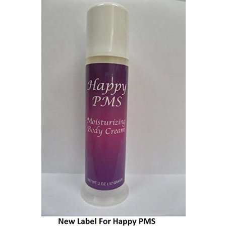 Happy PMS Natural Progesterone Moisturizing Body Cream Plant Derived Bio-identical Hormone Balancing for PMS Symptom Relief 2oz Pump ( Cruelty