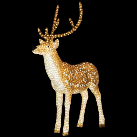 65 outdoor pre lit commercial grade brown buck christmas display decoration led lights - Commercial Grade Outdoor Christmas Decorations