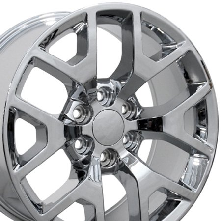 20x9 Wheels Fit GM Truck & SUV - Sierra 1500 Style Chrome Rims, Hollander 5656 - SET ()