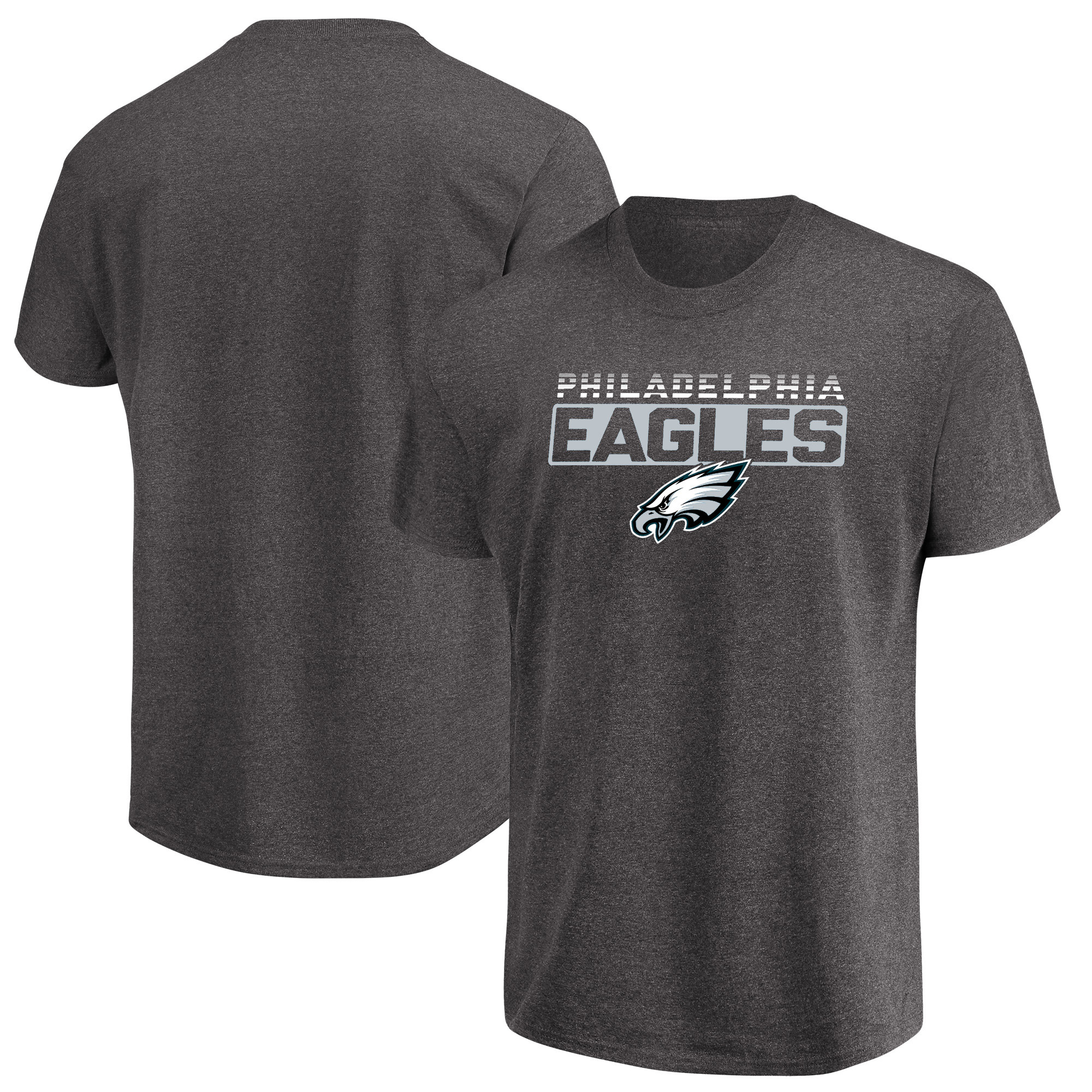 Men's Majestic Heathered Charcoal Philadelphia Eagles Come Into Play T-Shirt