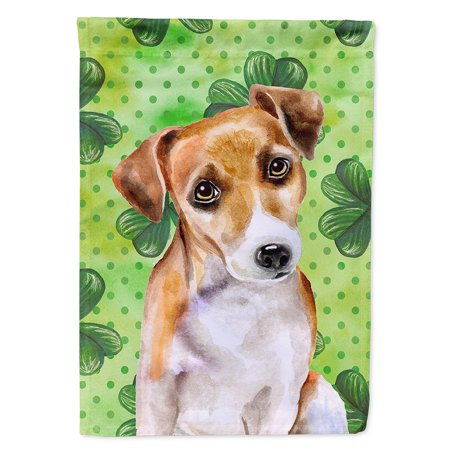 (Jack Russell Terrier #2 St Patrick's Flag Canvas House Size)