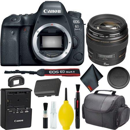 Canon EOS 6D Mark II DSLR Camera w/ Canon EF 85mm f/1.8 USM Lens Bundle (Canon Camera Gray)