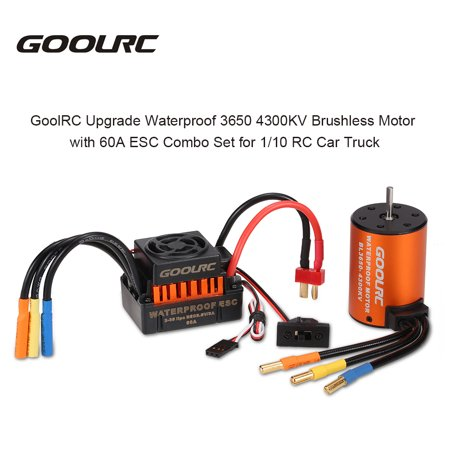GoolRC Upgrade Waterproof 3650 4300KV Brushless Motor with 60A ESC Combo  Set for 1/10 RC Car Truck