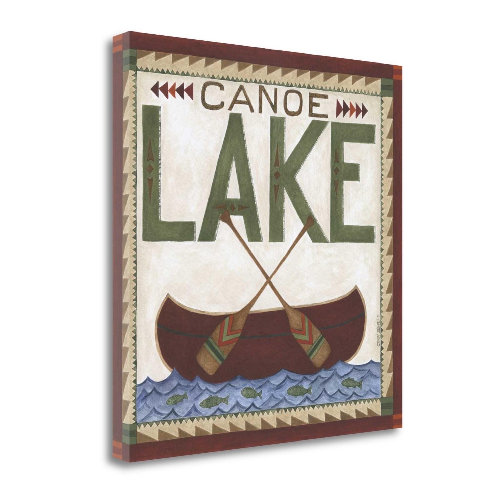 Tangletown Fine Art Canoe Lake Canvas Wall Art