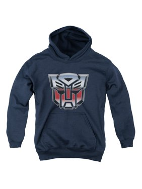 Transformers - Autobot Airbrush Logo - Youth Hooded Sweatshirt - Large