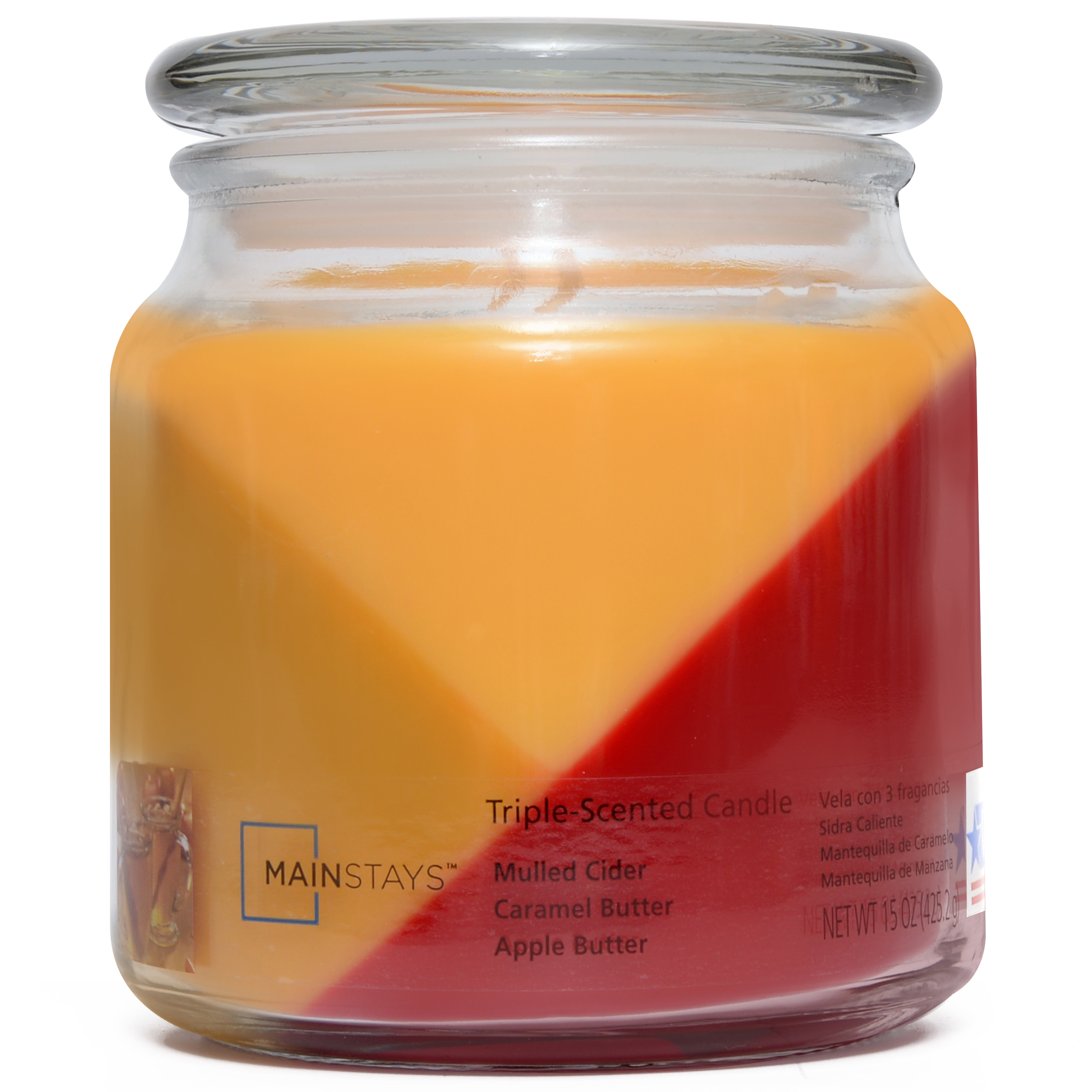 Mainstays 15-Ounce Triple-Pour Candle, Mulled Cider