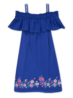 17de0e82 Product Image Embroidered Hem Cold Shoulder Dress (Big Girls). Product Title Lots of Love by SpeechlessEmbroidered ...
