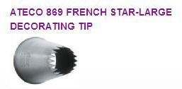 French Pastry Large Star Cake / Cupcake Decorating Icing Tip #869