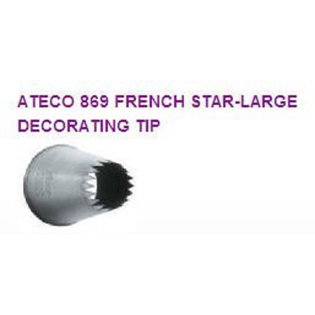 French Pastry Large Star Cake / Cupcake Decorating Icing Tip #869. 2pack ()