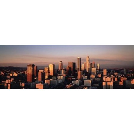 Skyline At Dusk  Los Angeles  California  USA Poster Print by  - 36 x 12 - image 1 de 1