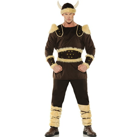 Norseman Mens Barbarian Viking Warrior Pirate Halloween Costume