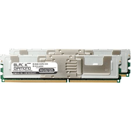4GB 2X2GB Memory RAM for Asus Desktops DSGC-DW/SAS DDR2 FBDIMM 240pin PC2-4200 533MHz Black Diamond Memory Module Upgrade