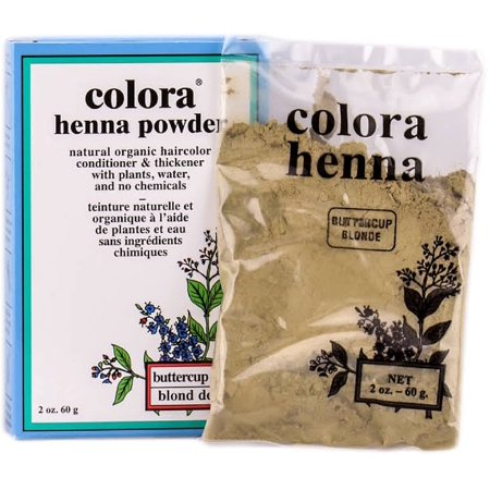Colora Henna Powder Hair Color, Buttercup Blonde 2