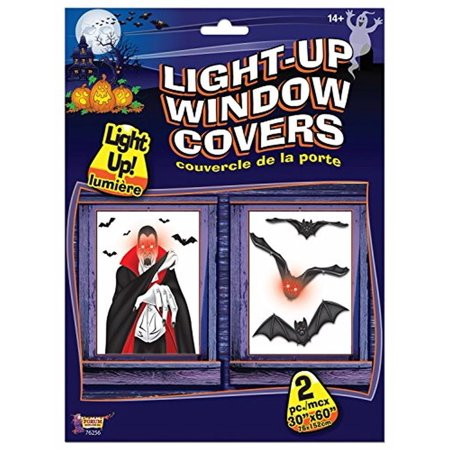Light Up Window Cover Bats Indoor House Decor Halloween Party Prop Decorations - Halloween Party Decors