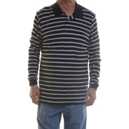 John Ashford Women's Long Sleeve Striped Sweatshirt Deep Black Size (Ashford Stripes)