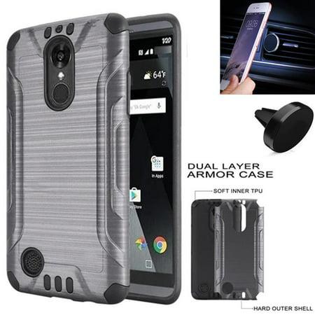 For Tracfone Prepaid LG Rebel 4 Case (Straight Talk), AT&T PREPAID LG  Phoenix 4 Case, Phoenix 3 , Verizon LG ZONE 4 Magnatic Holder W Build-in  Metal