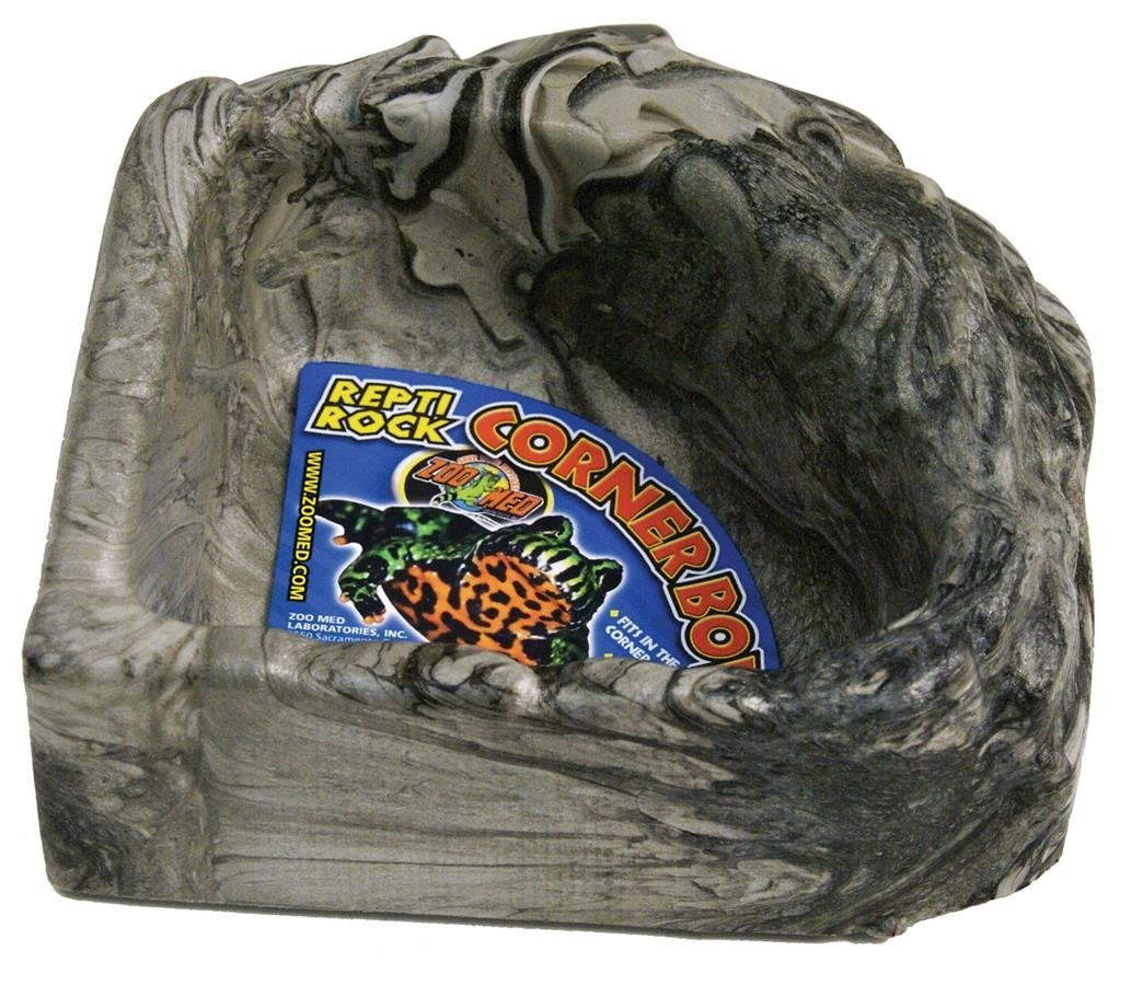 Brand New Reptile Rock Corner Water Dish Large, High-quality by