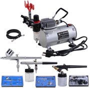 Best Airbrushes - 3 Multi-purpose Professional Airbrush Kit Compressor Dual-action Spray Review