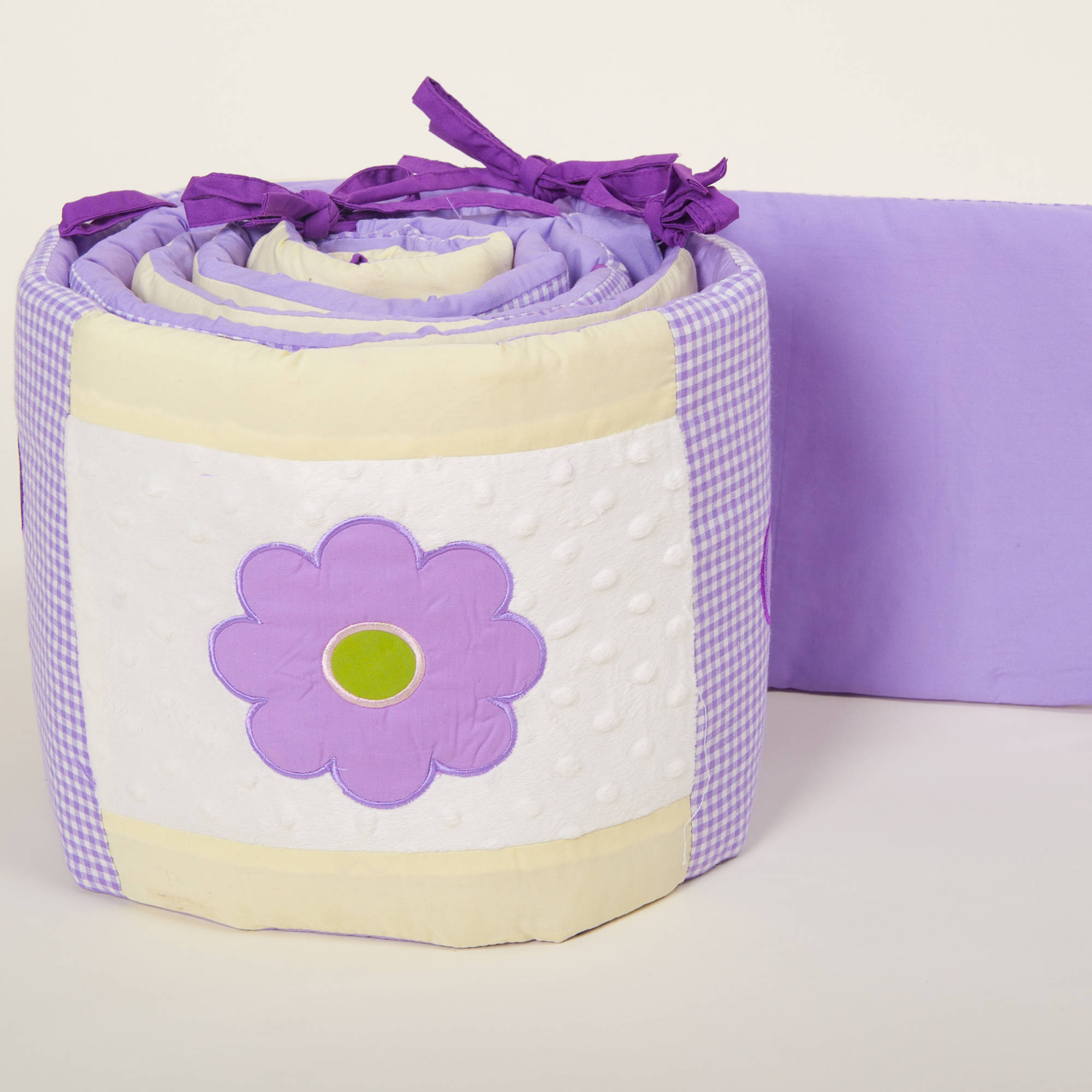 Pam Grace Creations Lavender Butterfly Crib Bumper