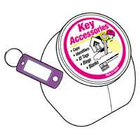 KEY ID TAG W/SPLIT RING