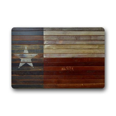 WinHome Texas State Flag Doormat Floor Mats Rugs Outdoors/Indoor Doormat Size 30x18 inches