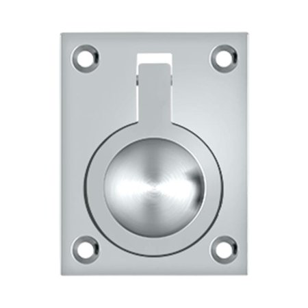 Deltana FRP25U26 2 5 x 1 87 in Flush Ring Pull Bright Chrome Solid