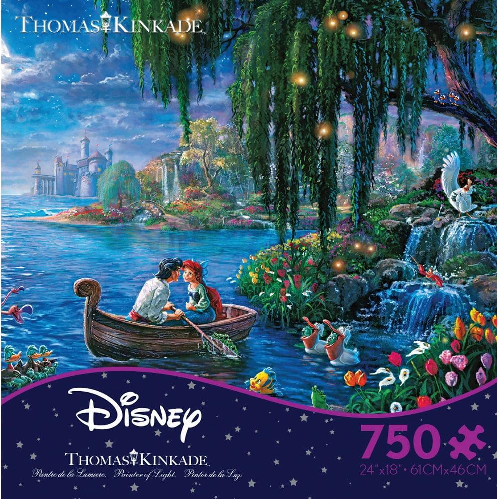 Ceaco Kinkade Disney Mermaid 750 Piece Puzzle