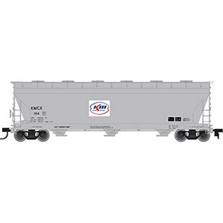 Atlas HO Scale ACF 4650 3-Bay Centerflow Covered Hopper Car Kerr McGee #145