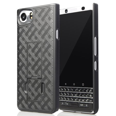 super cute 564ad c4c9b BlackBerry KEYone Case/Cover, Nakedcellphone's Black Kickstand Case Slim  Hard Shell Cover for BlackBerry KEYone Phone (Verizon/ATT/Sprint/Unlocked)