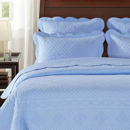 Calla Angel Sage Garden Luxury Quilted Pillow Sham ()