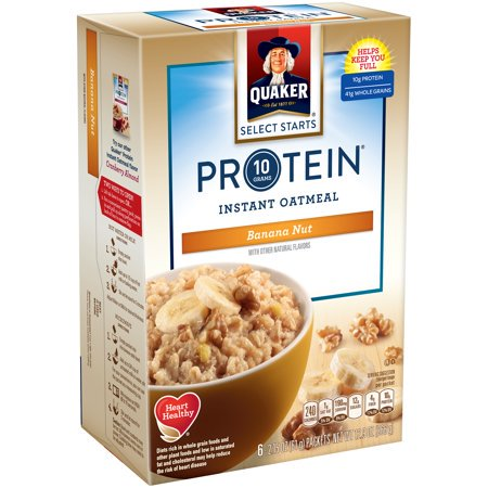 (4 Pack) Quaker Select Starts Instant Oatmeal, Banana Nut, 6 (Jasmine Oatmeal)