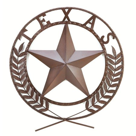 Gifts & Decor Texas Lone Star State Hanging Western Theme Wall Plaque, Wrought Iron By Gifts Decor - Western Star Decor
