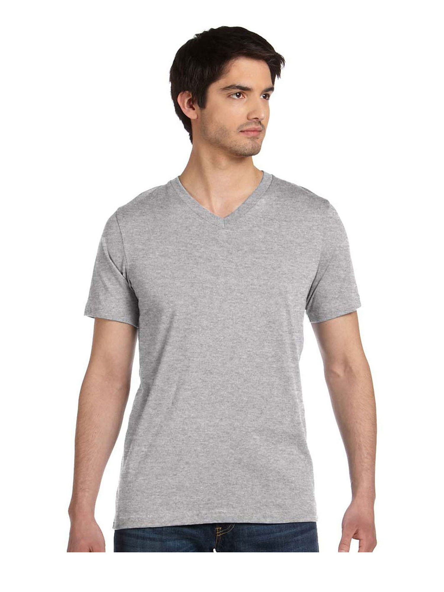 Canvas Bella Comfortable V-Neck Fitted Jersey T-Shirt