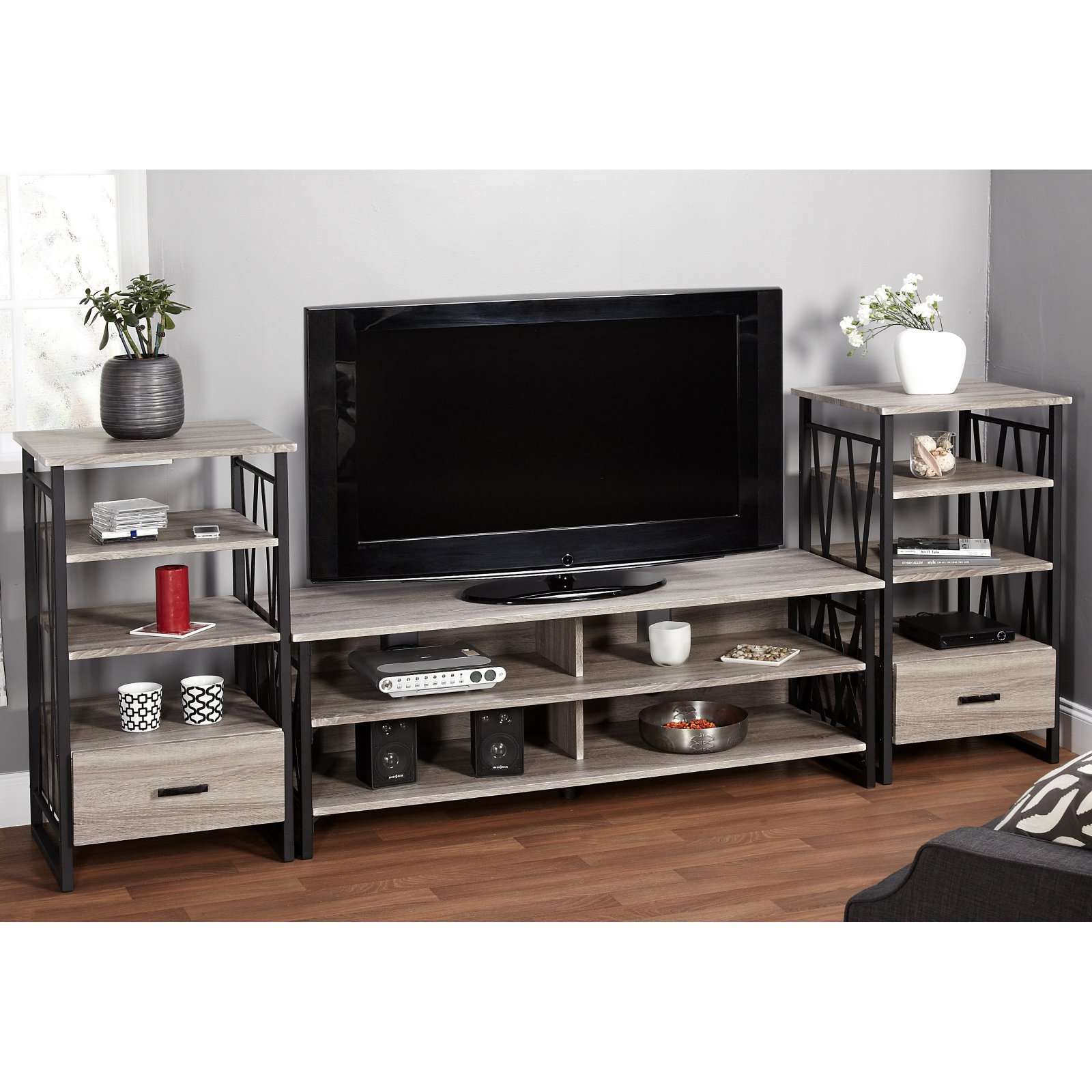 Target Marketing Systems Seneca TV Stand with 2 Piers