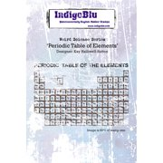 """IndigoBlu Cling Mounted Stamp 5""""X4""""-Periodic Table Of Elements"""