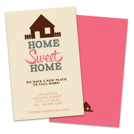 Personalized Home Sweet Home Moving Announcements (Sweet Pea Announcements)