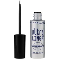 Maybelline Ultra Liner Waterproof Liquid Eyeliner, Black, 0.25 fl. oz.
