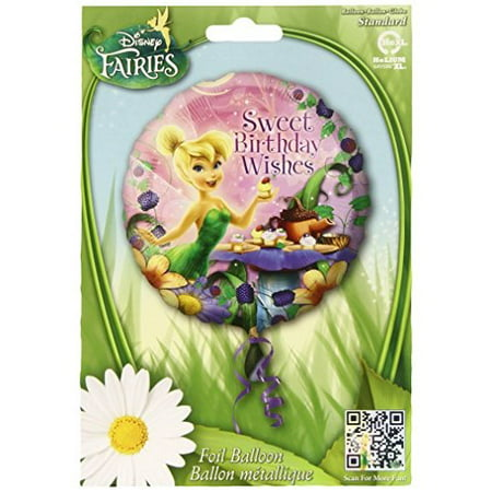 Anagram International HX Tinker Bell Happy Birthday Wishes Party Balloons, Multicolor - Tinkerbell Balloon