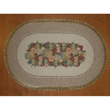 Tapestry Trading Se1422 14 X 20 In  Begium Doily Sierra Fruits Placemat