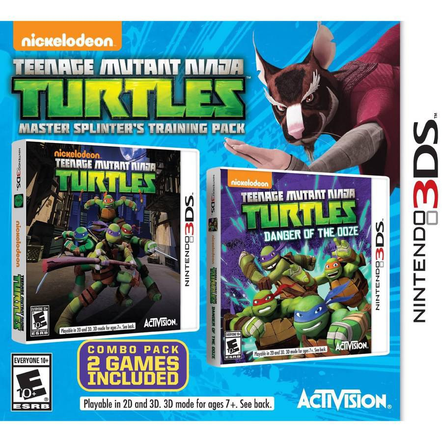 TMNT Master Splinters Training Pack, Activision, Nintendo 3DS, 047875770645