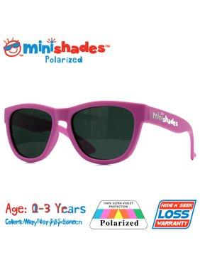 Minishades Polarized: Flexible Toddler Sunglasses - Powder Pink  UVA/UVB  Hide n' Seek Replacement   Age: 0-3Yr.