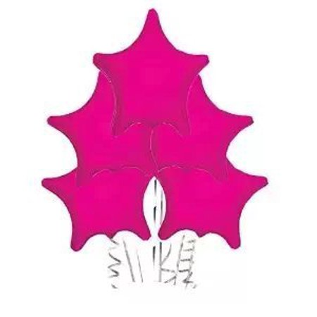 Star Balloon Hot Pink (22 Inch Mylar) Pkg/10