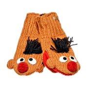 Knitwits Kids Sesame Street Knit Wool Mittens - Ernie