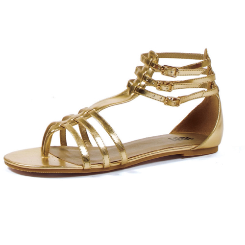 Rome Womens Gold Gladiator Shoes