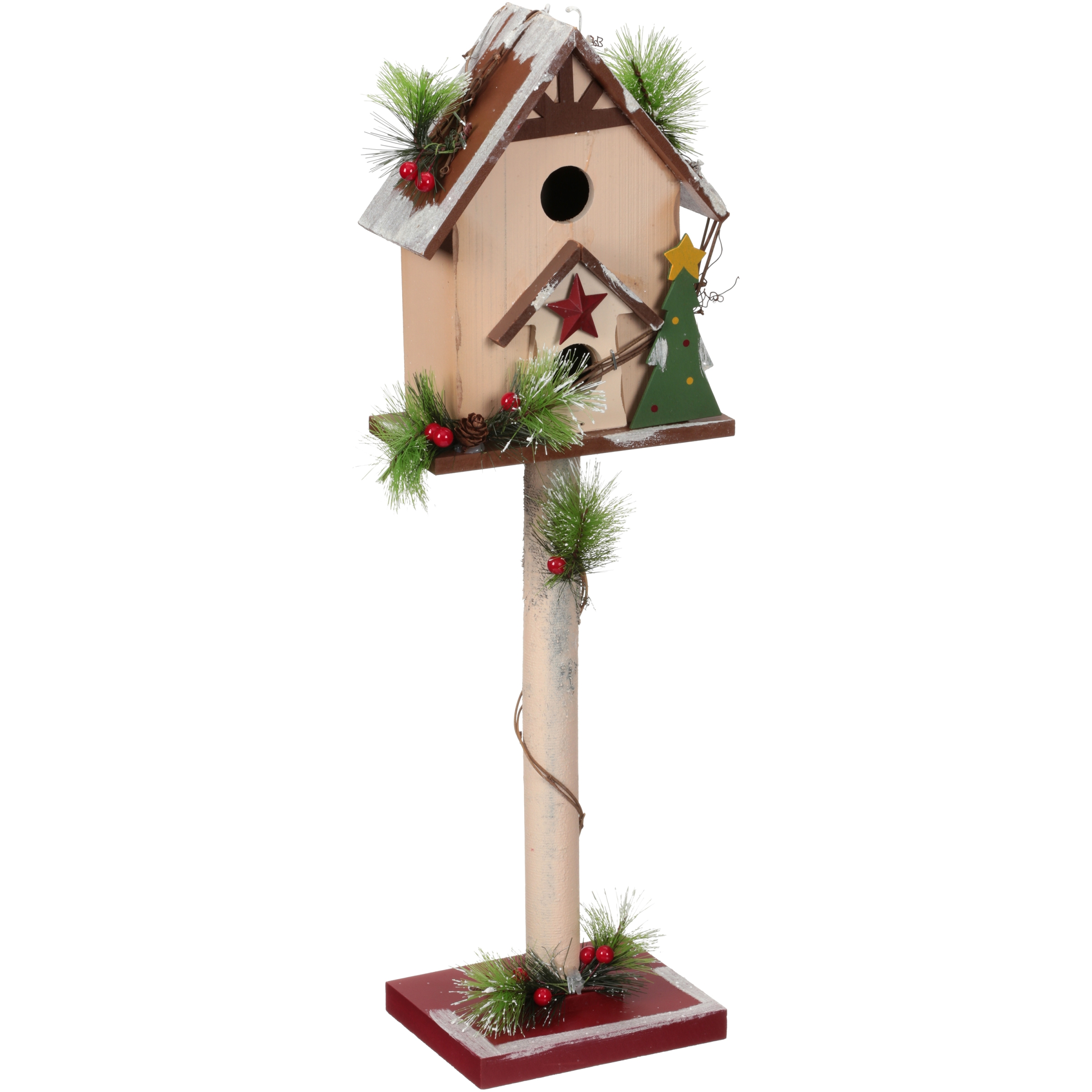 Holiday Time Décor Birdhouse