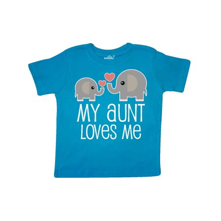 My Aunt Loves Me Niece Nephew Elephant Toddler (Birthday Wishes For My Niece And Nephew)