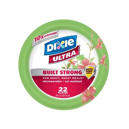 """Dixie Ultra 10 1/16"""" Paper Plates - 22ct"""