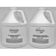 NIOXIN System 1 Cleanser Gallon & Scalp Therapy Gallon Set / 128 oz Set