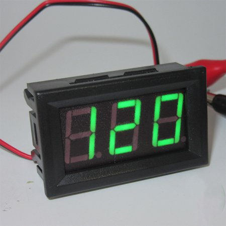 AC 220V 2-wire Voltage Meter Head LED Digital Voltmeter with Reverse Polarity Protection Specification:Emerald