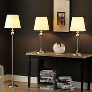 Tribecca Home  Ingot 3-piece Brusd Steel Lamp Set